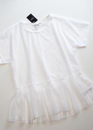 Белая прозрачная сетчатая блуза next