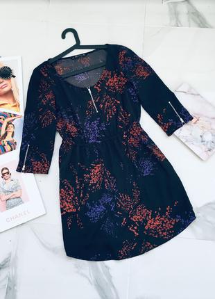 Бомбезное красочное платье с молниями