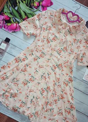 Стильное платье  с пуговицами от zara