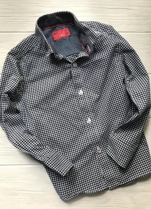 Стильная рубашка в клетку next на мальчика 3 года рост 98 см