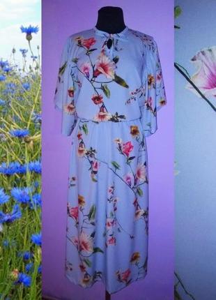 Лёгкое миди платье в цветы!