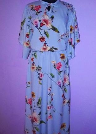 Лёгкое миди платье в цветы!2 фото