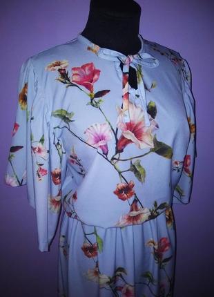 Лёгкое миди платье в цветы!4 фото