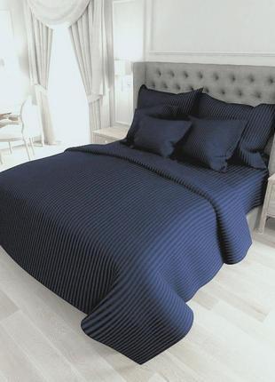 Синій комплект постільної білизни