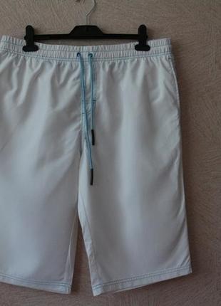 Bonprix- стльные, белые шорты с отделкой, xl-xxl, наш 52-54