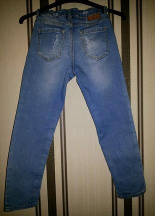 H&m стильные джинсы 4-5 лет2 фото