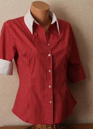 Hennes стильная, оригинальня  блуза, рубашка - швеция , m-l, сост.новой