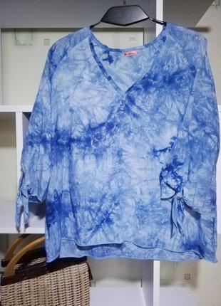 Легкая дышащая блуза tie-die
