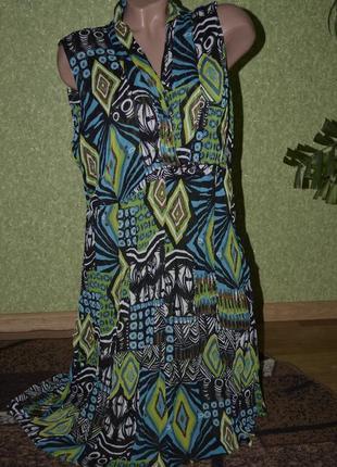 Легкое шелковое платье в красивых зеленых тонах