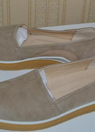 Слипоны мокасины туфли балетки кожа ecco размер 40 41 42 43, сліпони, мокасіни
