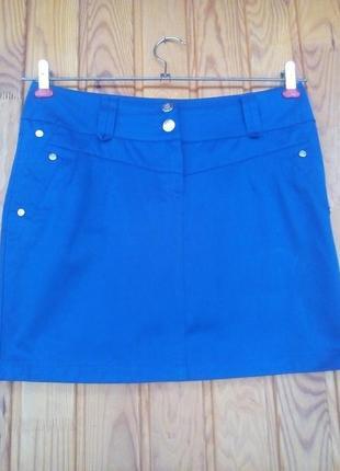 Коротка синя спідниця