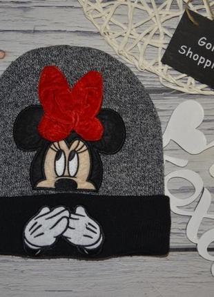 4 - 6 лет обалденная стильная шапка шапочка минни маус дисней disney