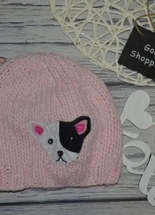 Подростковая обалденная стильная шапка шапочка с нашивкой крупная вязка