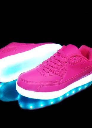 Кроссовки женские светящиеся pink tx02