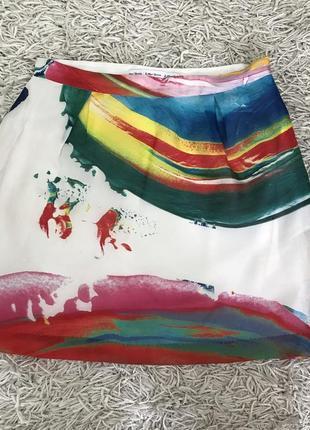 Красивенная юбка из натурального шелка на шелковой подкладке