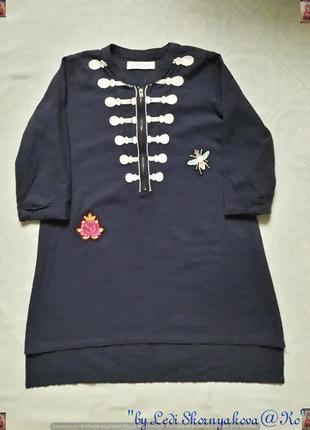 Новая туника/летнее платье со 100 % хлопка с вышивками и удлинённой спинкой на 10-11 лет