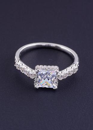 Кольцо 'xuping' фианит (родий)  0755010