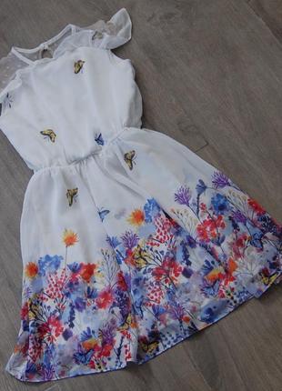 Легкое летнее платье tu на 8 лет