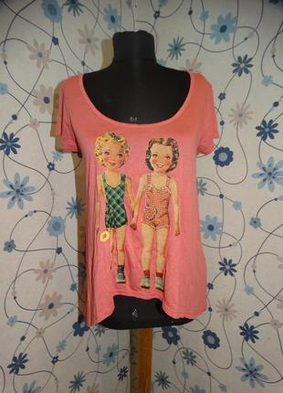 Футболка прикольная легкая на лето pink woman  с принтом кукол