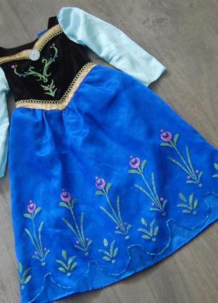 Платье анны от disney на 2-3 года