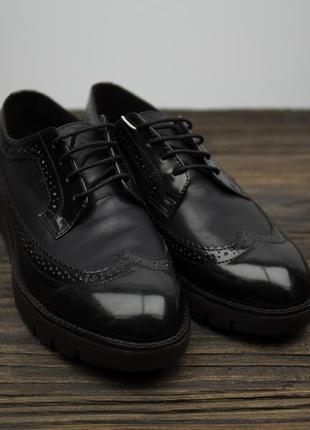 Женские кожаные туфли броги geox kaula оригинал р-37