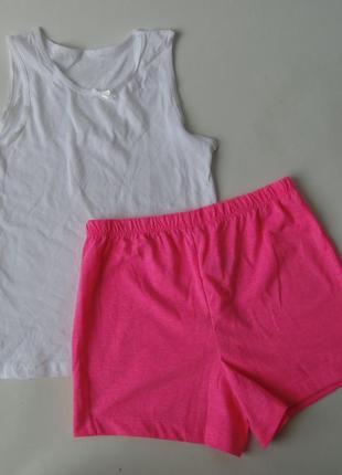 Пижама майка - шорты 7-8 лет primark англия 128 см