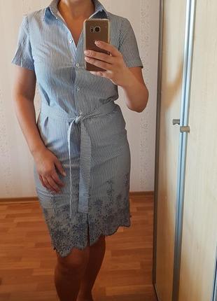 Новое платье-рубашка 44 р. хлопок