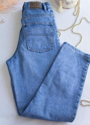 Винтажные джинсы мом высокая посадка