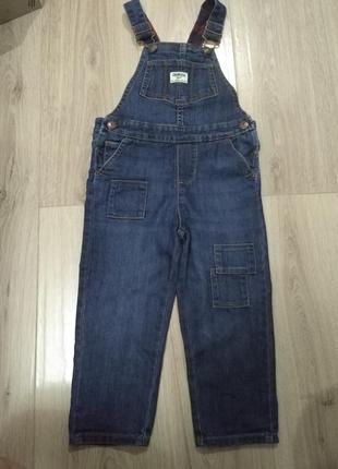 Фирменный джинсовый комбинезон oshkosh