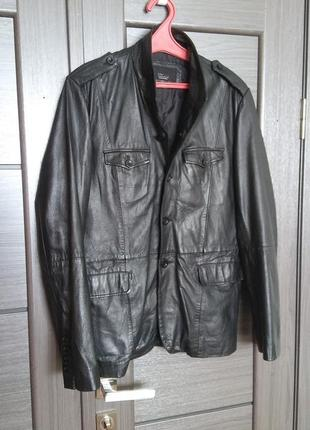 Мужская кожаная куртка zara (оригинал)