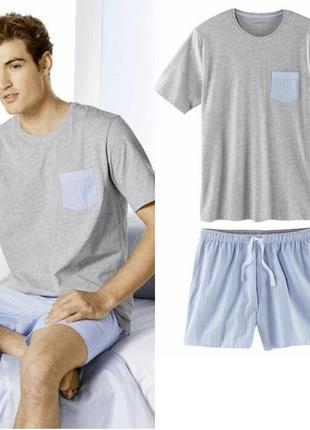 Летний комплект мужская пижама домашний костюм livergy германия, футболка шорты