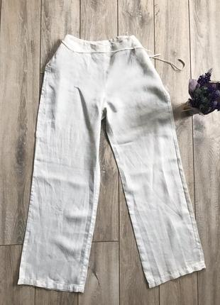 Льняные брюки клеш брюки летние из натуральной ткани от mango