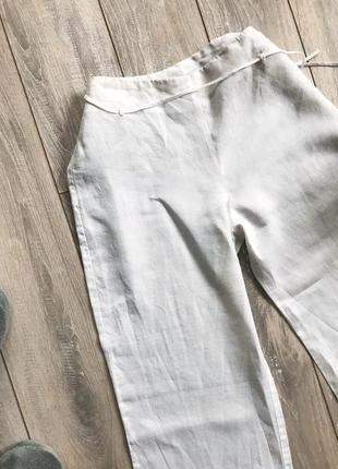 Льняные брюки клеш брюки летние из натуральной ткани от mango2 фото