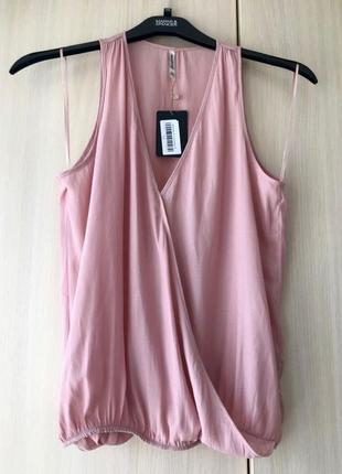 Розовая блуза с запахом stradivarius, m