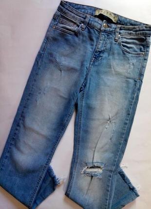 Распродажа! классные летние голубые джинсы denim co, размер s.