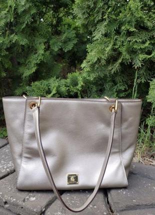 fd5c4a9ec62e Женская летняя кожаная сумка ральф лоран ralph lauren; оригинал; кожа б/у