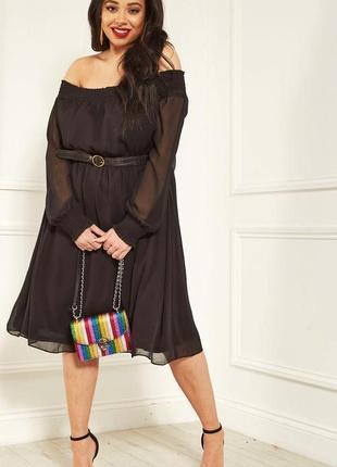 Романтичное платье с оголенными плечами lost ink