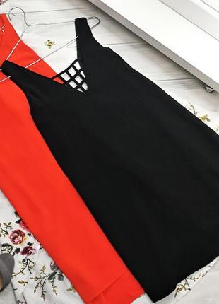 Черное платье с красивой спинкой в162323 boohoo размер uk10/38 (m)