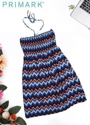 Пляжный сарафан на завязках в геометрический узор ocean club primark
