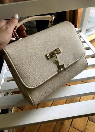 Стильная сумочка с маленькой и длиной ручкой.