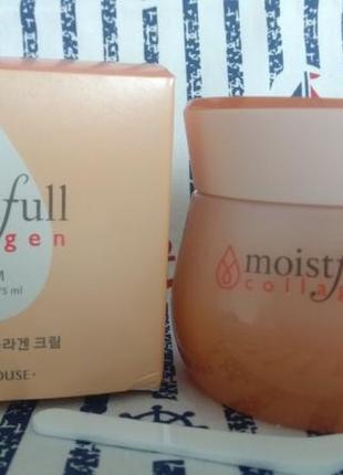 Хит от etude house moistfull collagen cream увлажняющий крем с коллагеном 75 мл