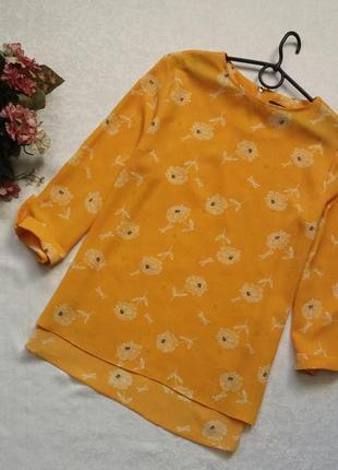 Яркая блуза primark12--46размер.