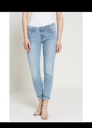 Голубые летние тонкие джинсы брюки штаны скини узкачи от denim co