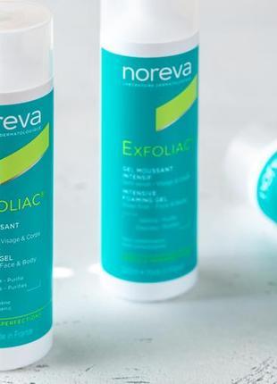 Гель для умывания с кислотами noreva exfoliac