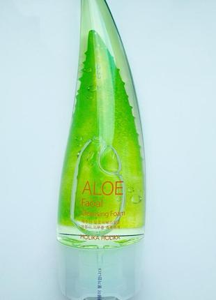 Пінка для вмивання holika holika aloe facial cleansing foam 150мл