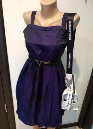 Стильное коктейльное платье мини чернильное хамелеон
