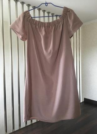 Идеальное платье сарафан с открытыми плечами h&m