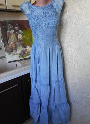 #крутое джинсовое платье в пол #qinglilaijia#размер xxl\  xl/так же пойдет на l\m\s,#5 фото