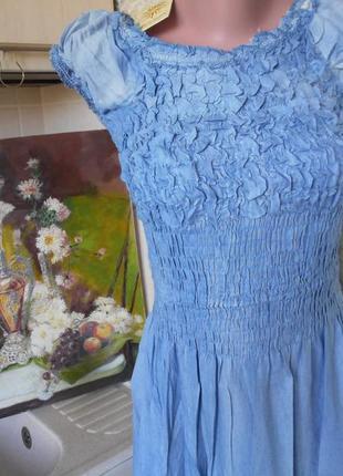 #крутое джинсовое платье в пол #qinglilaijia#размер xxl\  xl/так же пойдет на l\m\s,#6 фото