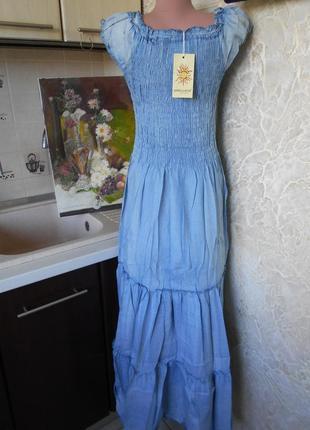 #крутое джинсовое платье в пол #qinglilaijia#размер xxl\  xl/так же пойдет на l\m\s,#7 фото
